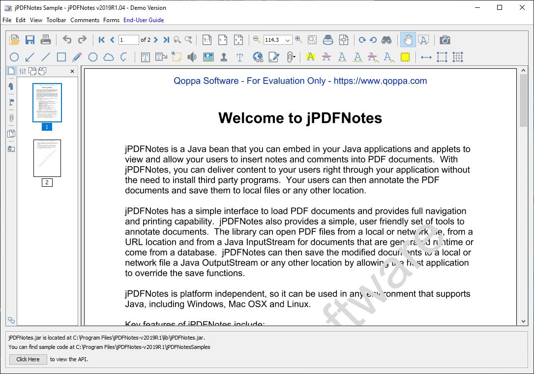 Click to view jPDFNotes screenshots