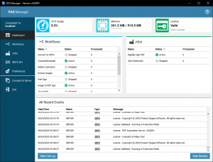 PAS Manager Dashboard